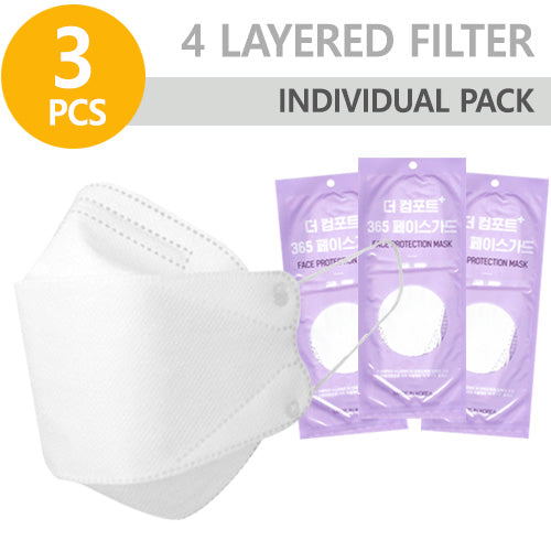 Disposable Face Mask ( 3 pcs )Made In KOREA - KosBeauty