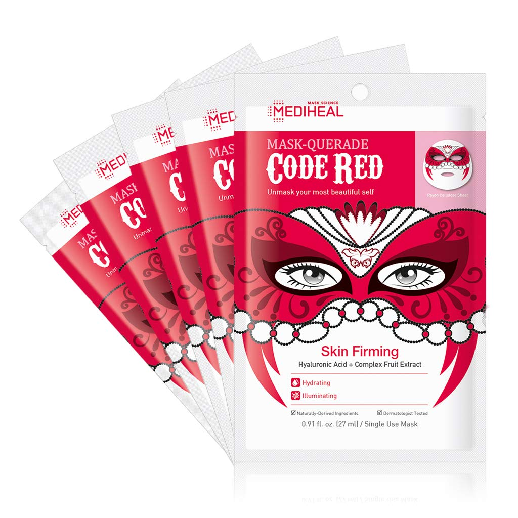 [ MEDIHEAL ] Mask-Querade Code Red Mask 5-PACK