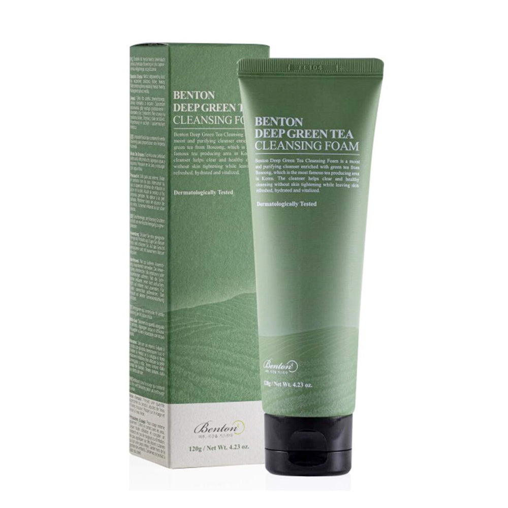 [ BENTON ] Deep Green Tea Cleansing Foam 120g (4.23 oz)