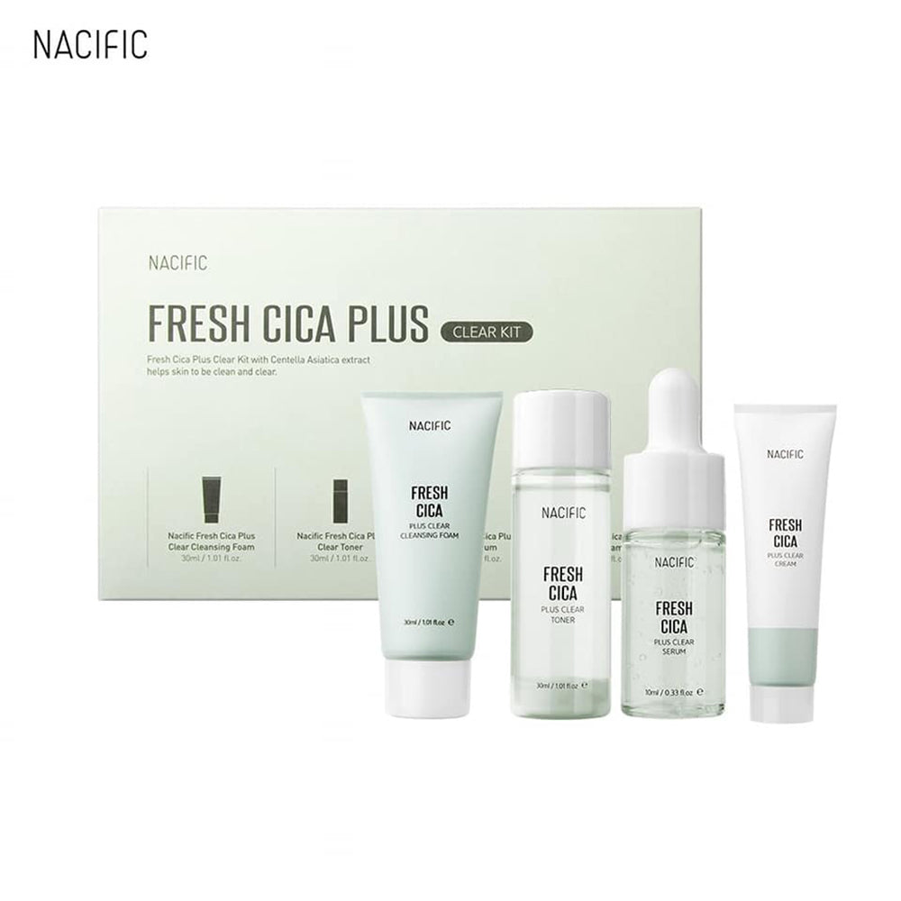 [ NACIFIC ] Fresh Cica Plus Clear Kit (Cleanser, Toner, Serum, Cream)