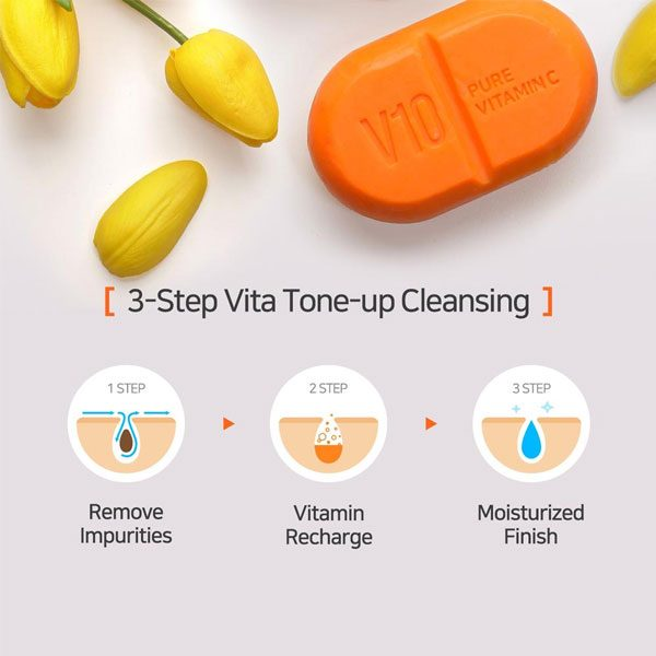 [ SOME BY MI ] V10 Multi Vita Cleansing Bar 95g