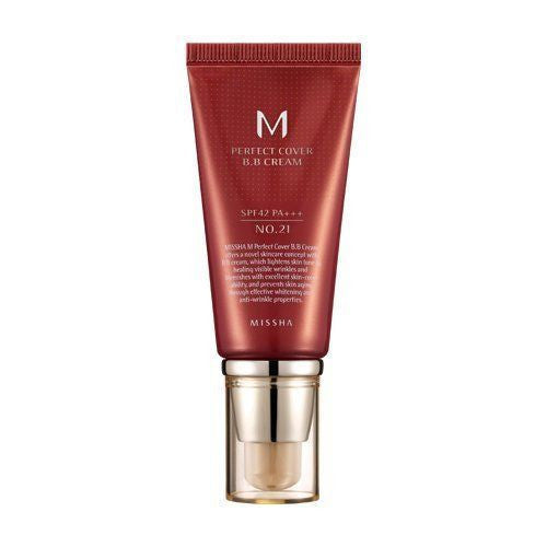 [ Missha ] M Perfect Cover BB Cream No.21 SPF42 PA+++ - KosBeauty