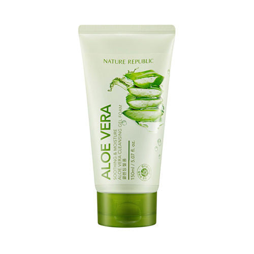 [ Nature Republic ] Soothing&Moisture Aloe Vera Cleansing Gel Foam 150ml - KosBeauty