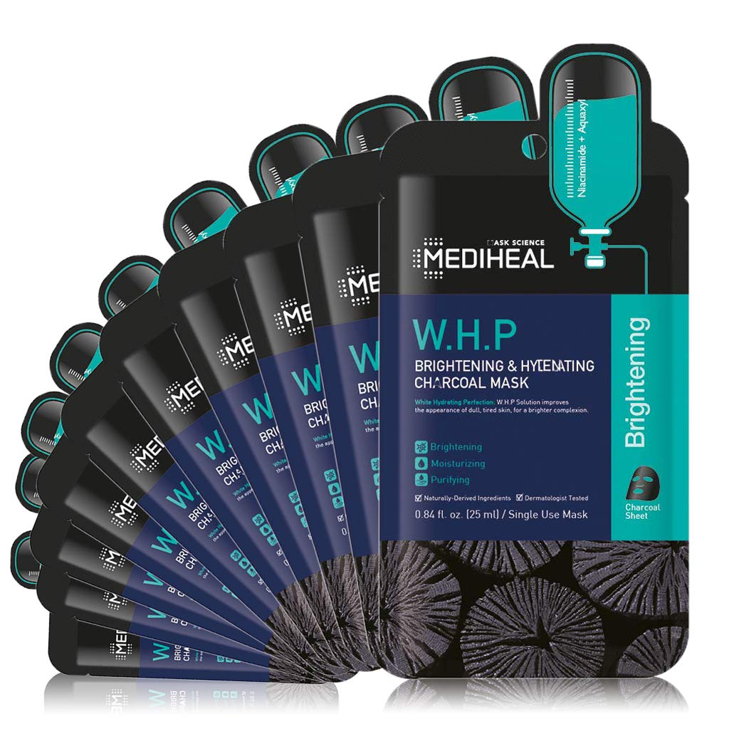[ MEDIHEAL ] W.H.P. Brightening & Hydrating Charcoal Mask 10-PACK