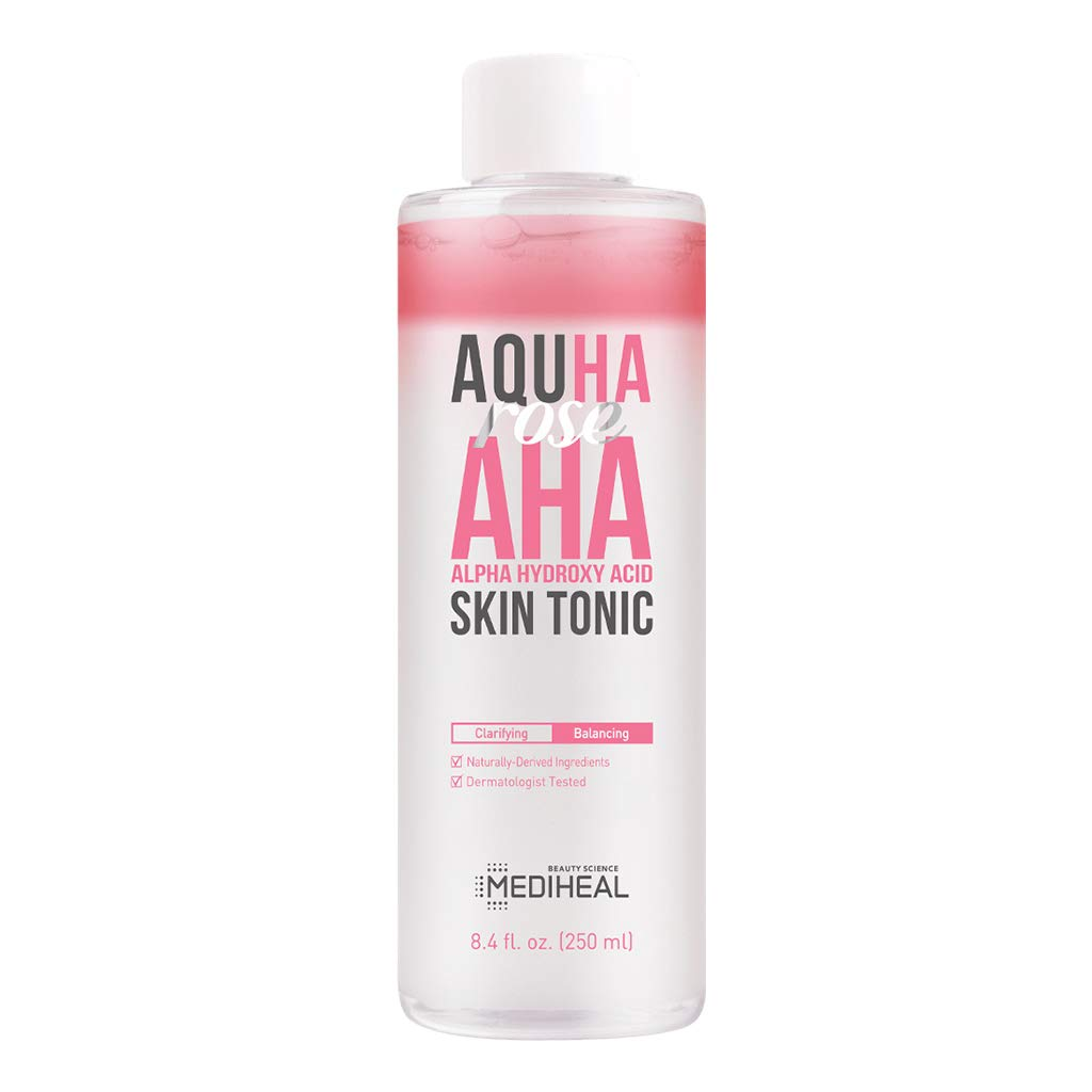 [ MEDIHEAL ] AQUHA Rose AHA Skin Tonic 250ml (8.4 fl. oz.)