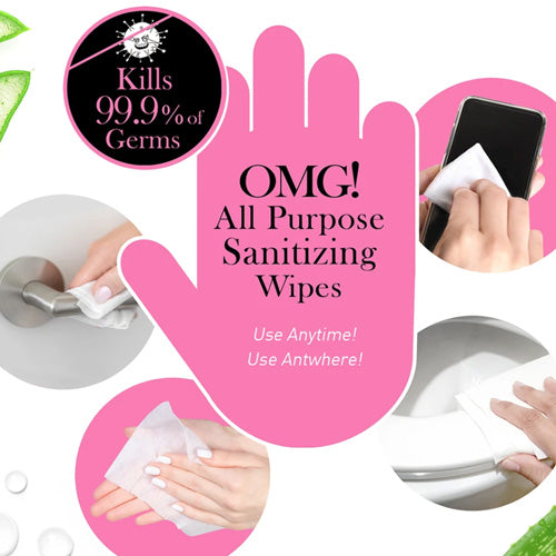 [ DOUBLE DARE ] Bye! Bye! Germs OMG! Hand Sanitizer Wipes BOX (20 PACK) - KosBeauty