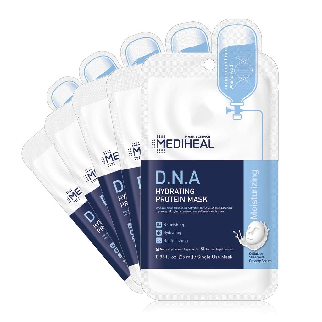 [ MEDIHEAL ] D.N.A. Hydrating Protein Mask 5-PACK
