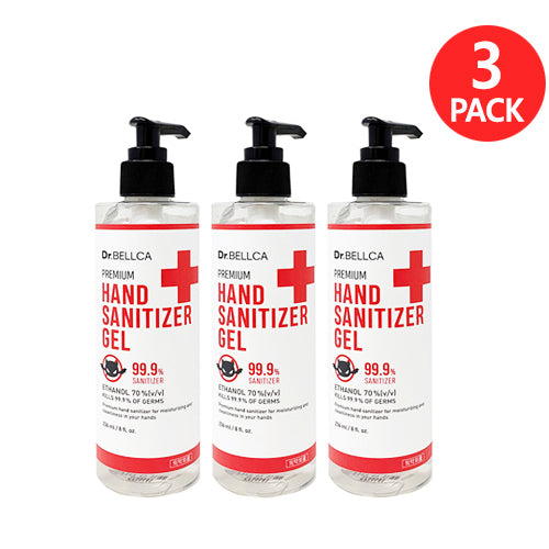 [ Dr. BELLCA ] Premium Hand Sanitizer Gel 236 ml (3-PACK) - KosBeauty