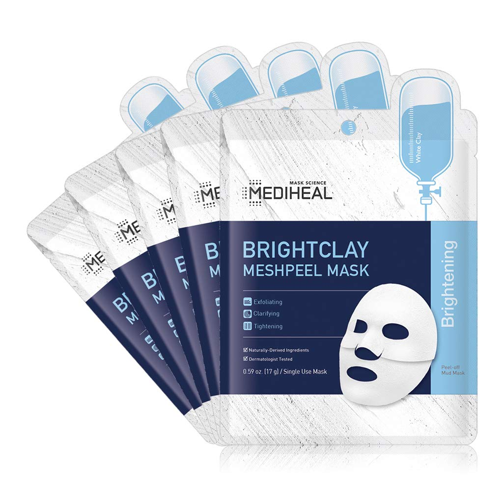 [ MEDIHEAL ] Brightclay Meshpeel Mask 5-PACK