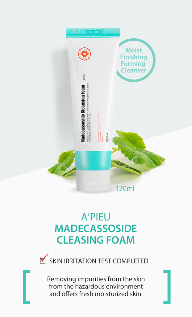[ A'PIEU ] Madecassoside Cleansing Foam 130ml (4.39 fl. oz.)