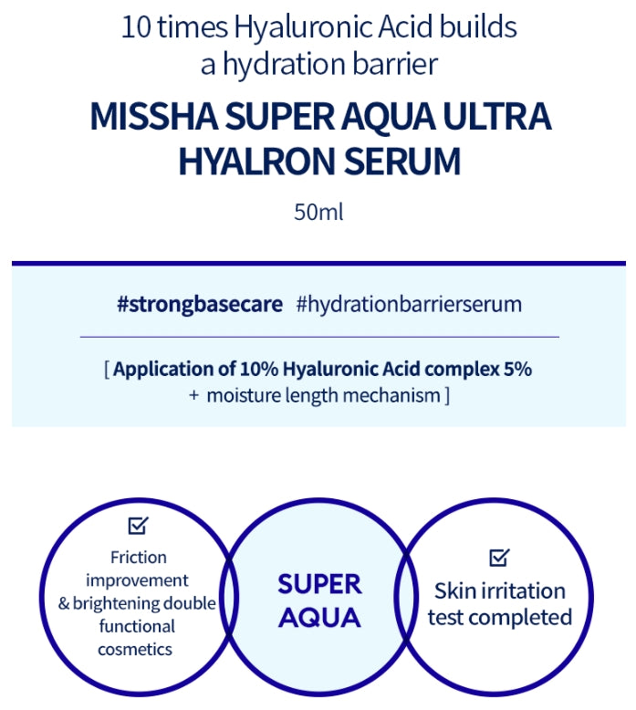 [ MISSHA ] Super Aqua Ultra Hyalron Serum 50ml (1.69 fl.oz)