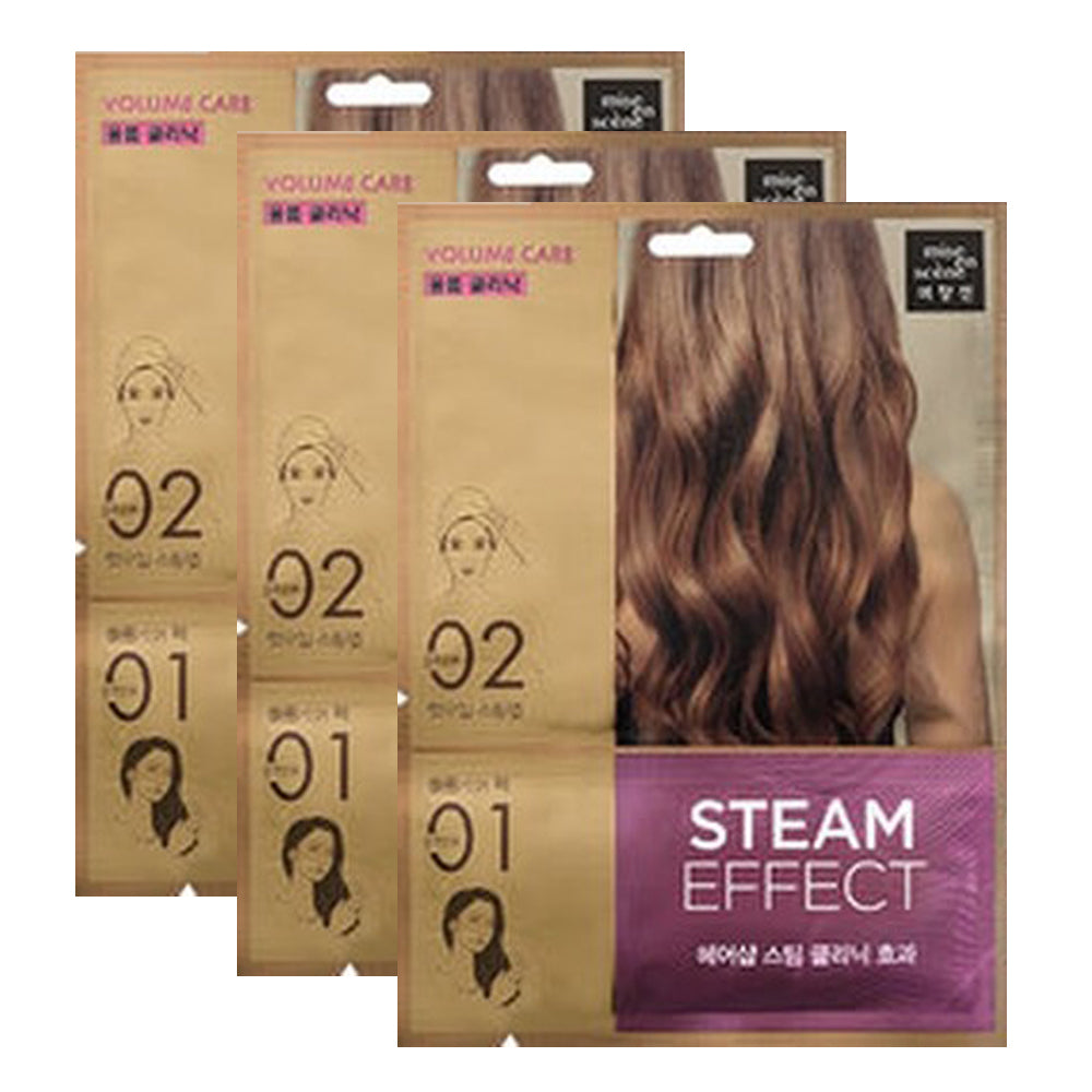 [ Mise En Scene ] Volume Care Steam Hair Mask Pack 3 PCS