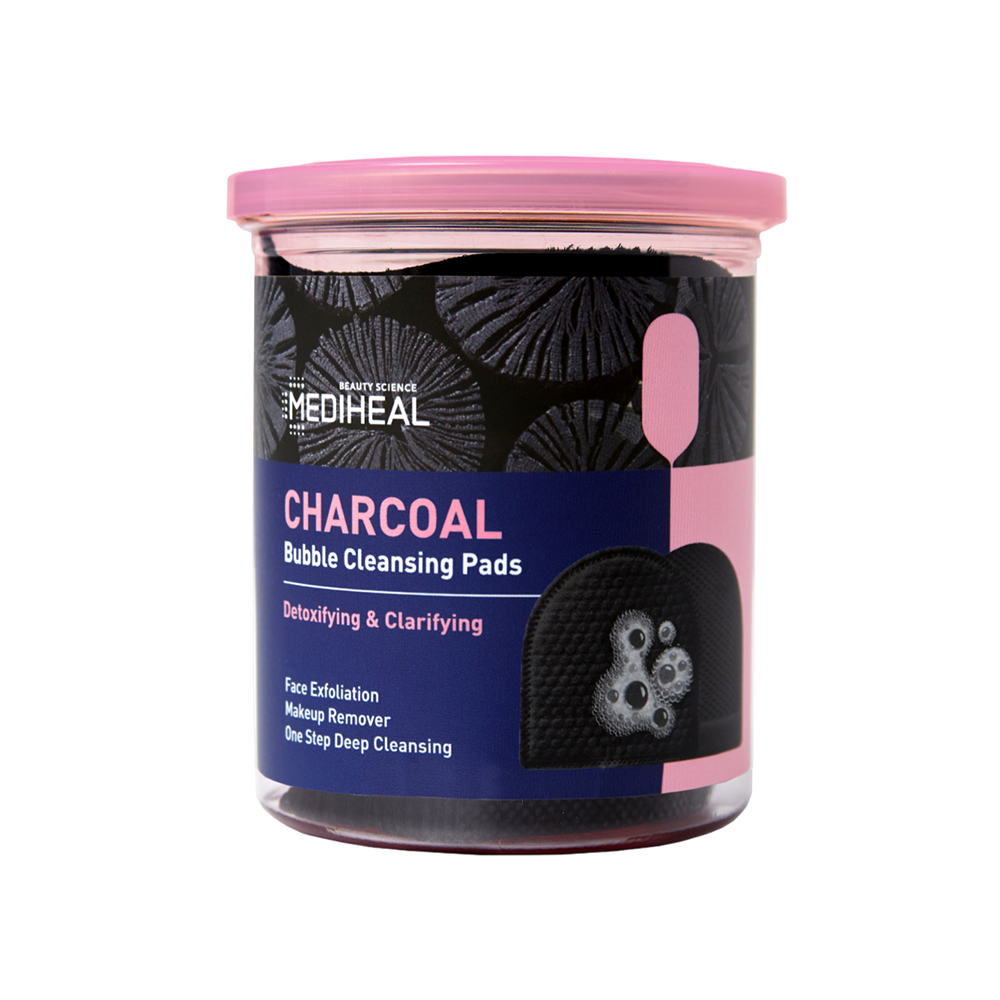 [ MEDIHEAL ] Charcoal Bubble Cleansing Pads (20 Pads)