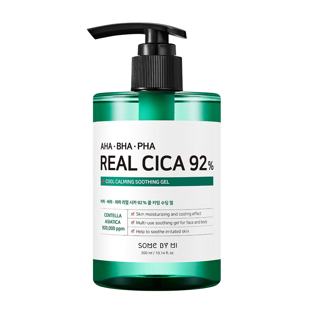 [ SOME BY MI ] AHA BHA PHA Real Cica 92% Cool Calming Soothing Gel 300ml