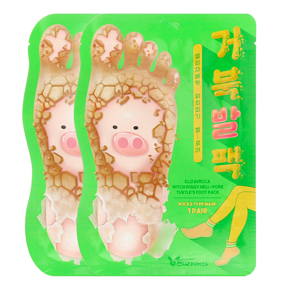 [ ELIZAVECCA ] Witch Piggy Hell Pore Turtle's Foot Pack 1 Pair (2-PACK)