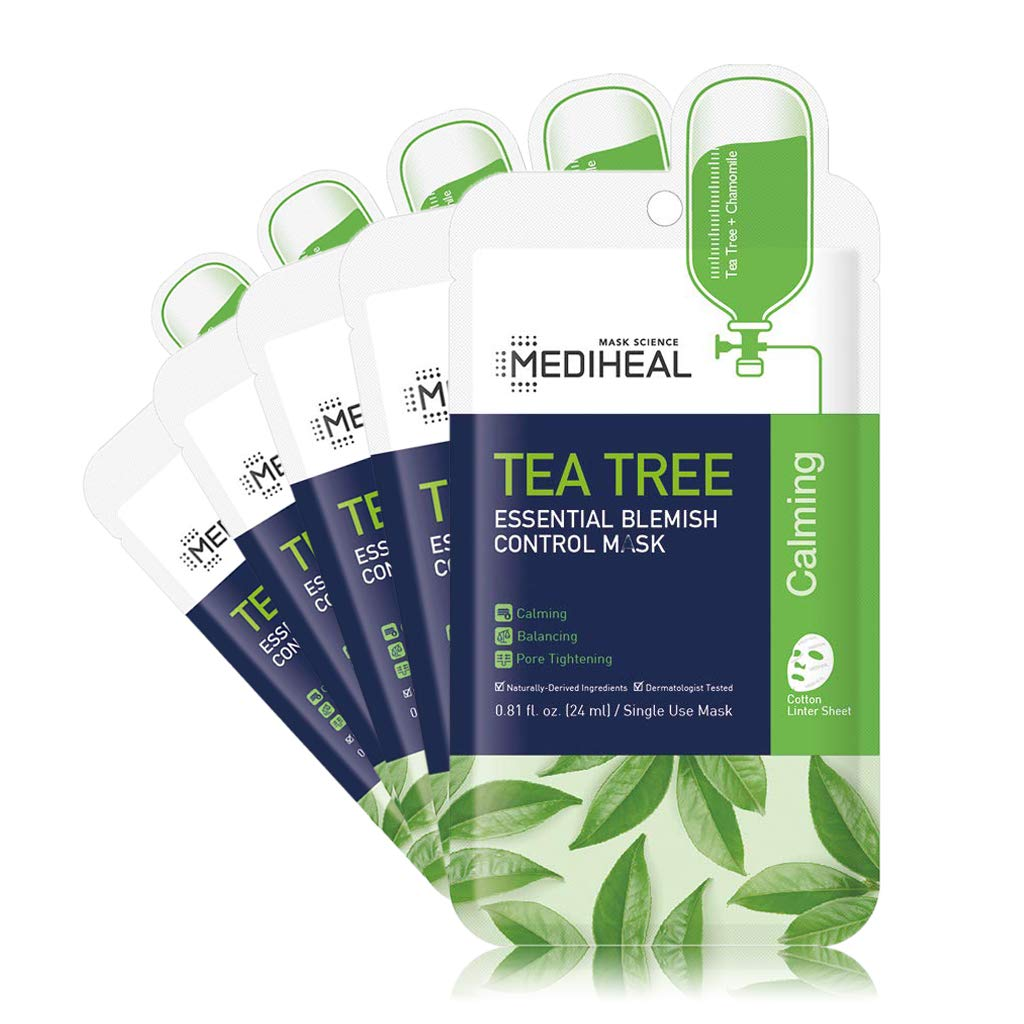 [ MEDIHEAL ] Tea Tree Essential Blemish Control Mask 5-PACK