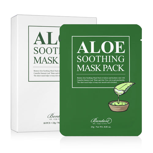 [ BENTON ]  Aloe Soothing Mask Pack 10 Sheets - KosBeauty