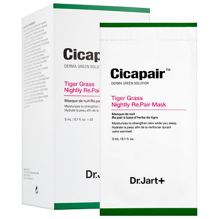 [ Dr.Jart+ ] Cicapair Tiger Grass Nightly Re.Pair Mask  3ml x 30 sheets - KosBeauty