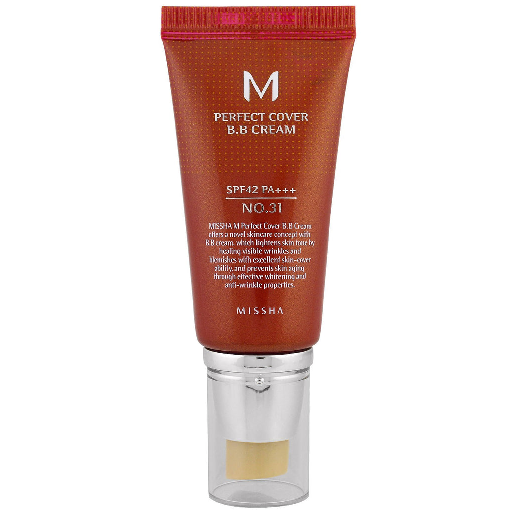 [ Missha ] M Perfect Cover BB Cream No.31 SPF42 PA+++ - KosBeauty