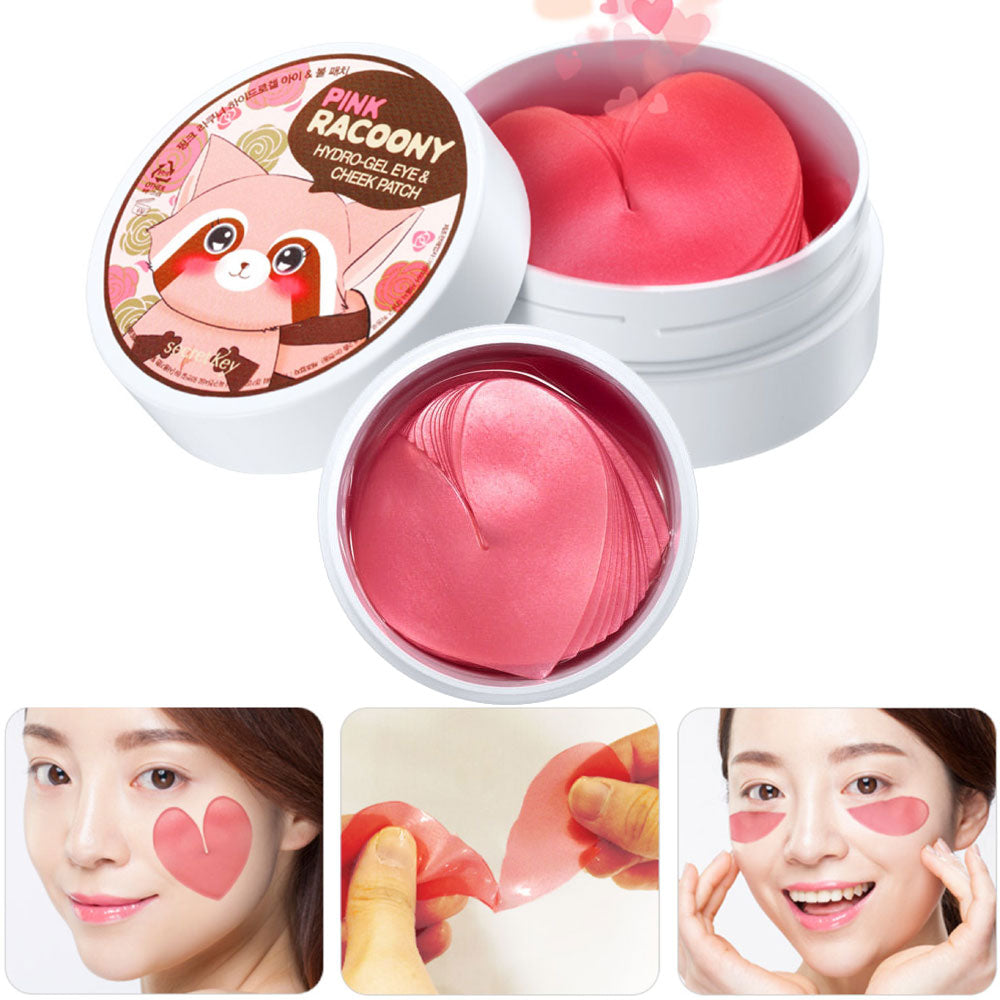 [ Secret Key ] Pink Racoony Hydro -Gel Eye & Cheek Patch 60 patches - KosBeauty