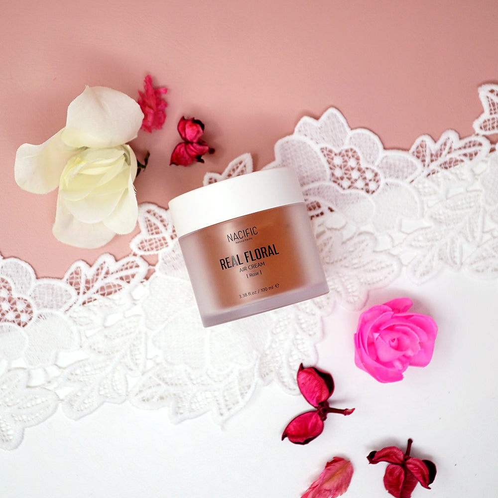 [ NACIFIC ] Real Floral Air Cream Rose - Moisture Cream 100 ml / 3.38 oz