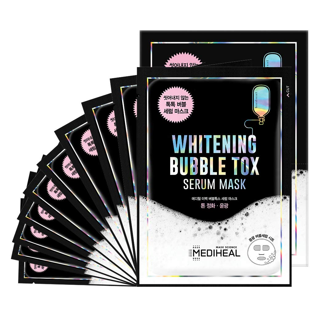 [ MEDIHEAL ] Whitening Bubbletox Serum Mask 10-PACK