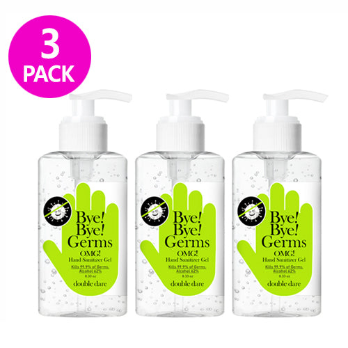 [ DOUBLE DARE ] Bye! Bye! Germs OMG! Hand Sanitizer Gel 250ml (8.33 oz) 3 PACK - KosBeauty