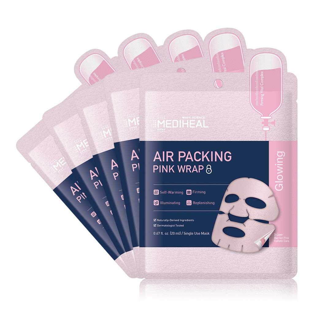 [ MEDIHEAL ] Air Packing Pink Wrap Mask 5-PACK