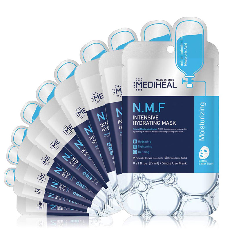[ MEDIHEAL ] N.M.F. Intensive Hydrating Mask 10-PACK