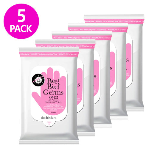 [ DOUBLE DARE ] Bye! Bye! Germs OMG! All Purpose Sanitizing Wipes (5-PACK) - KosBeauty