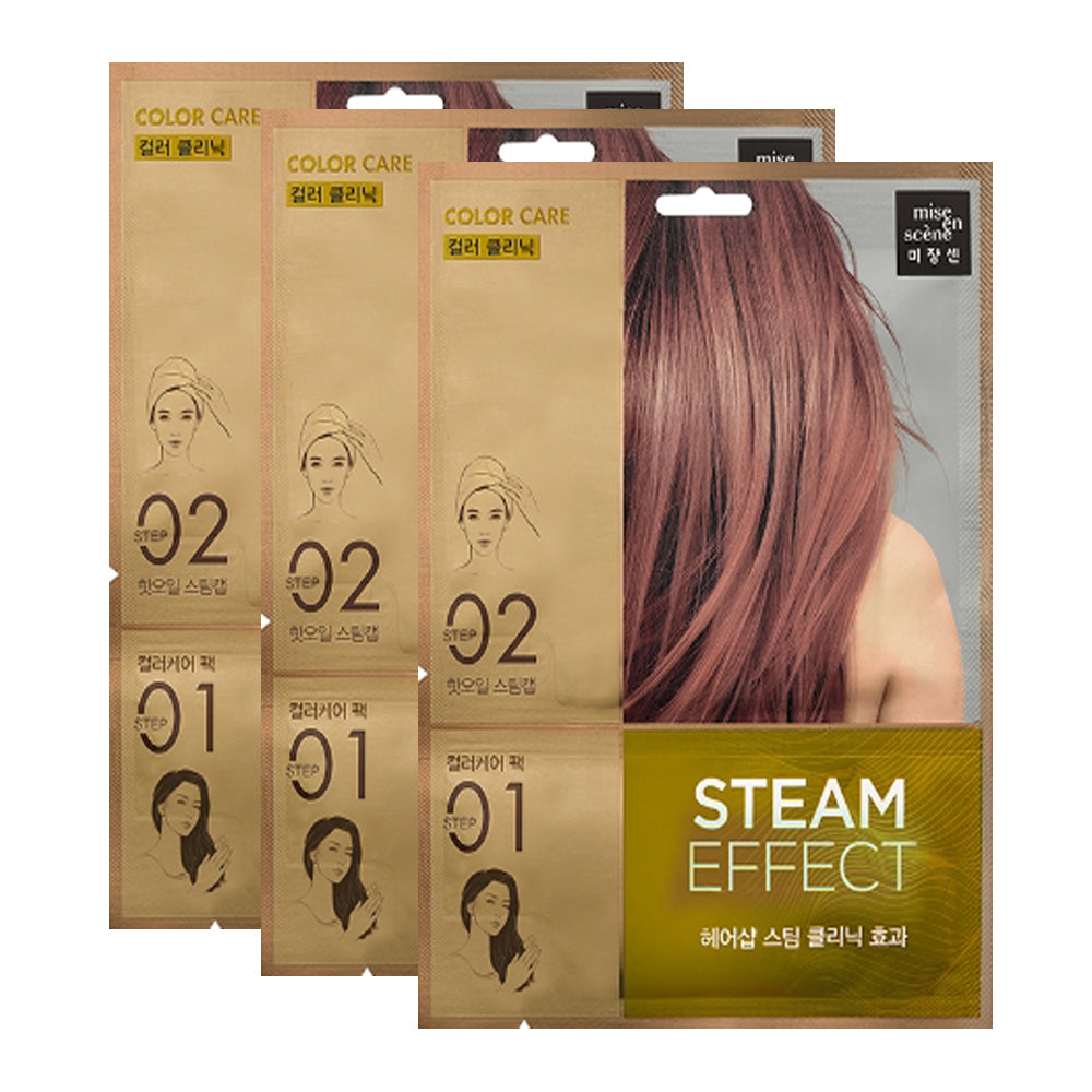 [ Mise En Scene ] Color Care Steam Hair Mask Pack 3 PCS