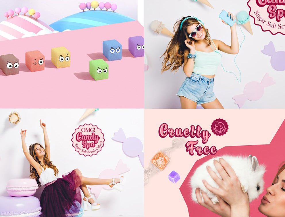 [ DOUBLE DARE ] OMG! CANDY SPA Sugar Salt Scrub Cube (Choose Your Kinds)