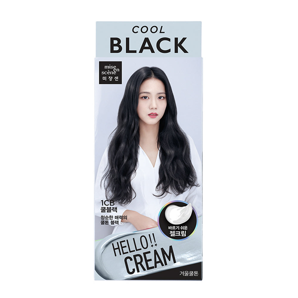[ MISE EN SCENE ] Hello Cream Color Easy Self Hair Dye - 1CB Cool Black