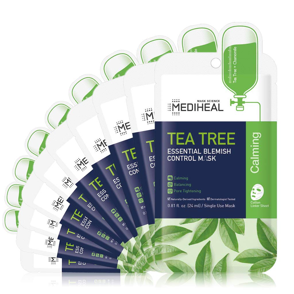 [ MEDIHEAL ] Tea Tree Essential Blemish Control Mask 10-PACK