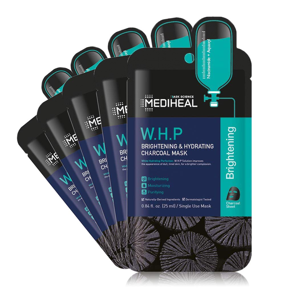 [ MEDIHEAL ] W.H.P. Brightening & Hydrating Charcoal Mask 5-PACK