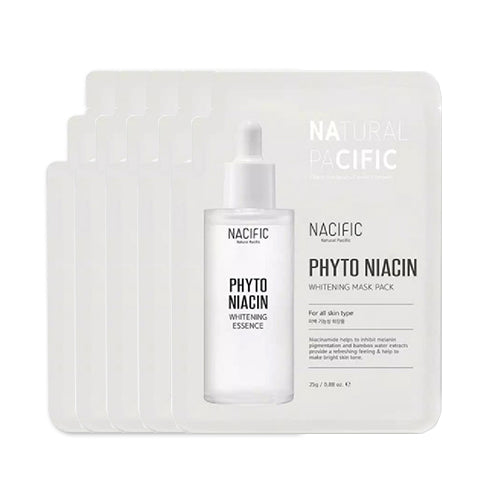 [ NACIFIC ] Phytoniacin Whitening Mask Pack 3~10 PCS (QTY - Choose Option)