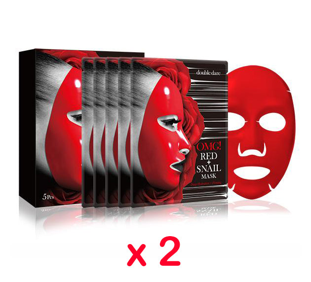 [ DOUBLE DARE ] OMG! Red + Snail Mask (Choose Your Option) - KosBeauty