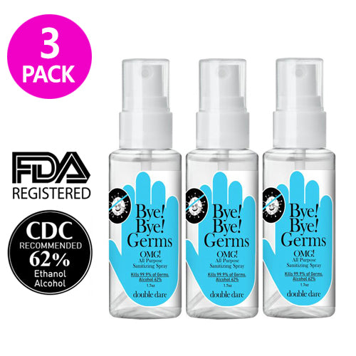 [ DOUBLE DARE ] Bye! Bye! Germs OMG! Hand Sanitizer Spray 50ml (1.7 oz) 3 PACK - KosBeauty