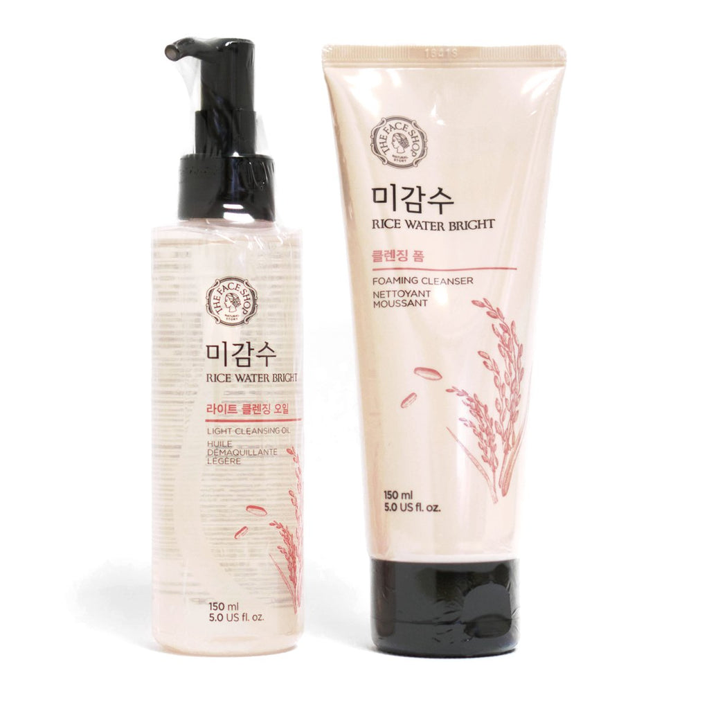 [ THE FACE SHOP ] Rice Water Bright Cleansing Foam 150ml - KosBeauty