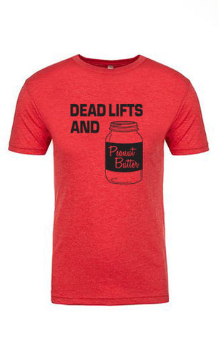 Mens Deadlifts & Peanut Butter CrossFit T-Shirt