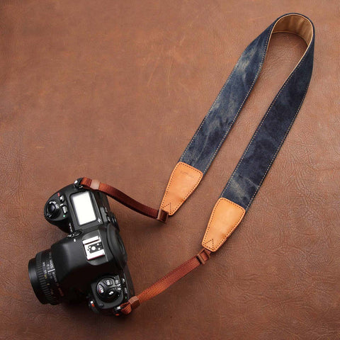Blue Demin camera neck shoulder strap