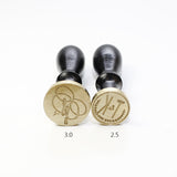 Custom Wax seal stamp, Double initial classic monogram custom seal