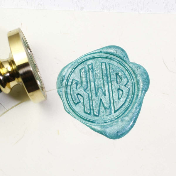 Custom Wax seal stamp, Circle monogram custom seal