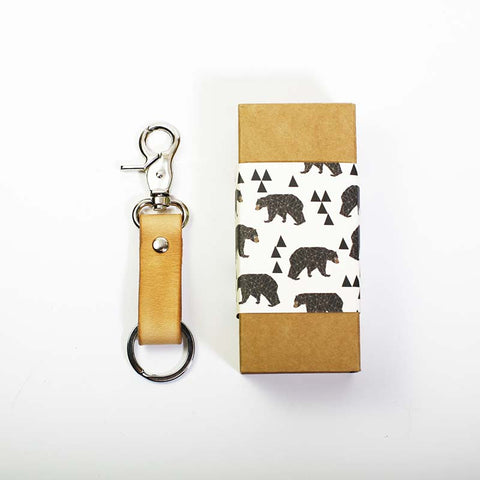 Leather Key Fob-Natural