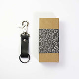 Leather Key Fob-Black