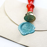 Christmas Tree with circle seal wax stamp