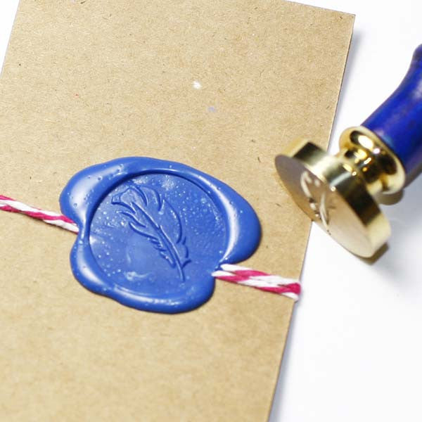 Feather seal wax stamp