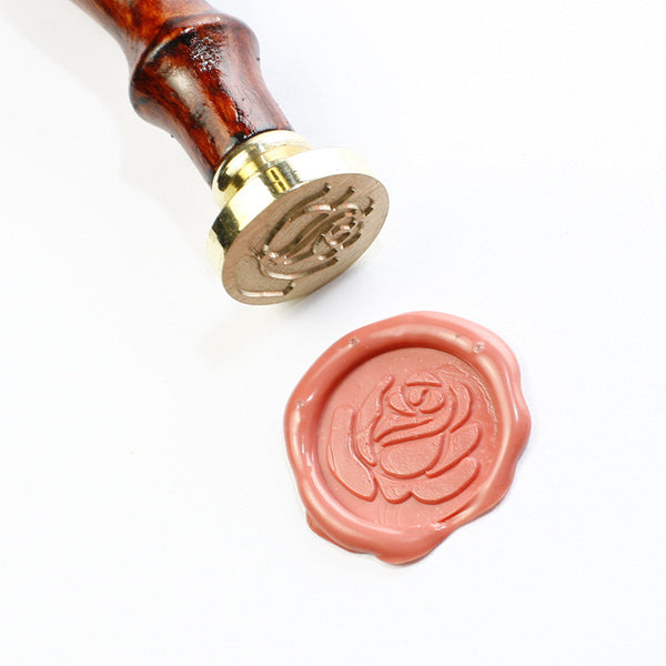 Rose wax seal stamp,  seal stamp, Rose seal stamp