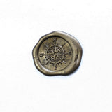 Compass wax seal stamp,  seal stamp, compass seal stamp