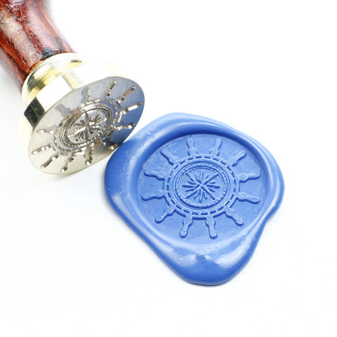 Boat Wheel seal wax stamp, wedding seal stamp, sealing stamp